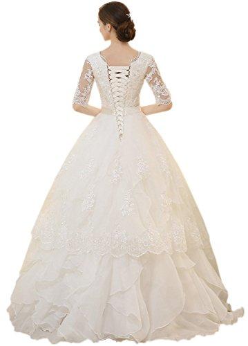 Ikerenwedding Damen A-Linie Kleid S Off White