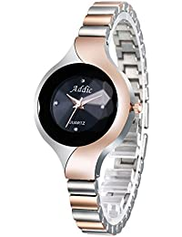Addic Uber Cool Designer Dual Tone Silver & Rose Gold Girls & Women's Watch