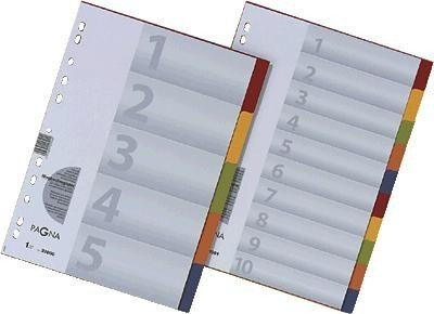 Pagna 32001-20 Register 10-teilig, 5-farbig mit Deckblatt