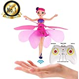 MondayUp Fliegende Fee, Fliegende Fee Puppe Mit Licht, USB-Aufladung, Mit Fernbedienung, Fliegen...