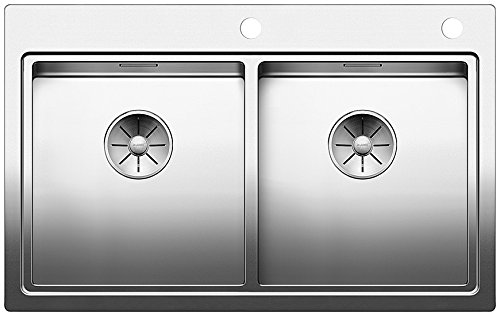 BLANCO DIVON II 8-IF, Küchenspüle für normalen und flächenbündigen Einbau, Einbauspüle, mit InFino-Ablaufsystem und Ablauffernbedienung, Edelstahl Seidenglanz; 521663
