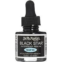 Dr. Ph. Martin's Black Star India Ink, 1.0 oz, Black (Matte)