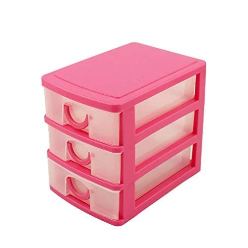 Jinzuke 2/3 Schichten aus Kunststoff Fach-Art Make-up-Aufbewahrungsbehälter Schreibtisch Sundries Behälter, Kosmetik, Desktop-Organizer -