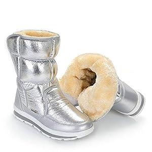 XPFXPFX Sport Freizeit Modetrend im Freien Silber Winterstiefel Qualität Frauen Schnee Stiefel Einlegesohle Dame Warme Schuhe Mädchen Mode Schöne Lookin