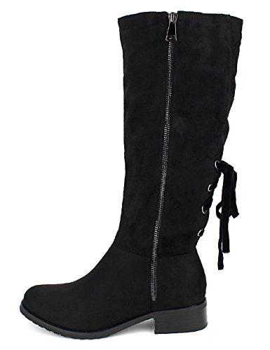 Cendriyon Bottes Noires Cavalières Bello Star Chaussures Femme