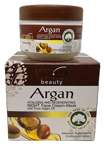 Crème de nuit revitalisante et régénérante à l'huile d'argan pure, 50 ml