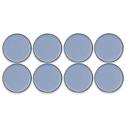 Filzada® 8x Teflongleiter Selbstklebend - Ø 30 mm (rund) - Profi Möbelgleiter/Teppichgleiter PTFE (Teflon) -