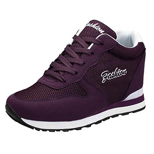 Ears Frauen Casual Wedge Schuhe Komfort Plateauschuhe Schnürschuhe Loafers Schuhe rutschfeste Sneakers Sommer Running Sneakers Schnürer Sportschuhe Sneaker Laufschuhe Outdoor Schuhe -