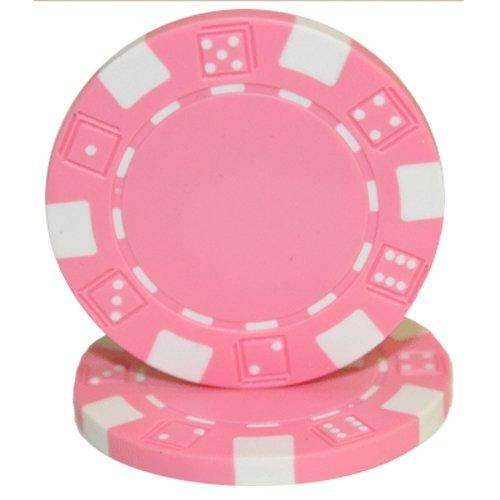 Brybelly 50Clay Composite gestreift Würfel 11,5Gramm Poker Chips, Rose Rose-chip