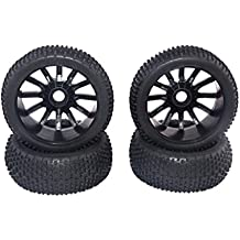 NON MagiDeal 4Pcs Racing RC 1/8 Todoterreno Buggy 17mm Hub Ruedas Y Neumáticos 4