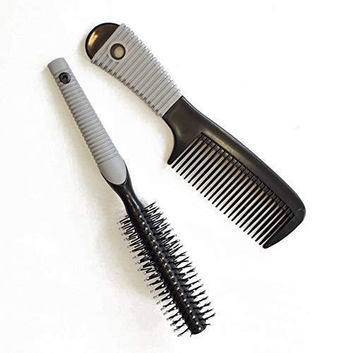 GYYlucky Flat Comb + Roll Comb Set Haarkamm Friseursalon Haarkamm Form Supermarkt (Farbe : A) - Topische Reiben