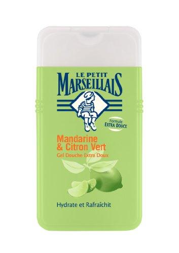 Le Petit Marseillais Gel Douche Extra Doux Mandarine et Citron Vert 250 ml Lot de 3