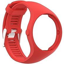 Para Polar M200bandas, plástico pulseras bandas de correas de reloj de lujo con marco para Polar M200