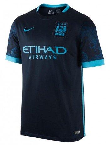 Nike MCFC SS AWAY STADIUM JSY Herren T-Shirt, Blau (476), Gr. S