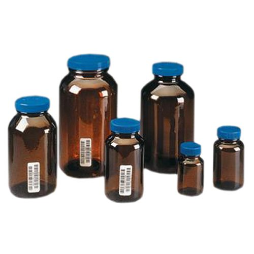 ecfd1f9c7657 I-CHEM Certified 300 Series - Wide Mouth Jars, Amber Glass, with Caps,  I-CHEM