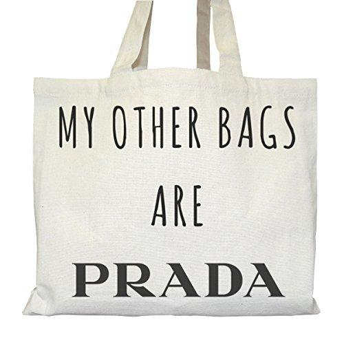 Tote bag Urbain - Soufflet et Poches intérieures - Toile épaisse de coton Bio - My other bags are Prada