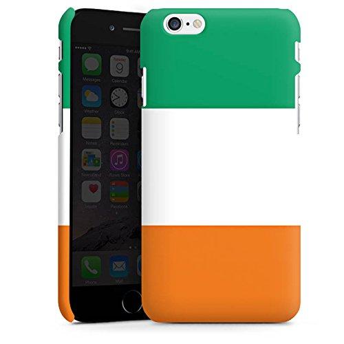 Apple iPhone X Silikon Hülle Case Schutzhülle Elfenbeinküste Flagge Fußball Premium Case matt