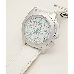 Clocks male steel strap white skin and green hands water ALTANUS 7752