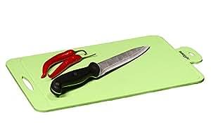 Silicone tagliere da BASICS2YOU–colori moderni tappetino di taglio migliore in silicone di qualità premium è, knife-marks antiscivolo resistente, resistente al calore e lavabile in lavastoviglie. (verde)