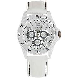 Dooa Time 0R06D Men's Quartz Watch with Calendar, White, One Size