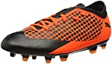 Puma Unisex-Kinder Future 2.4 FG/AG JR Fußballschuhe, Schwarz Black-Shocking Orange 02, 36 EU