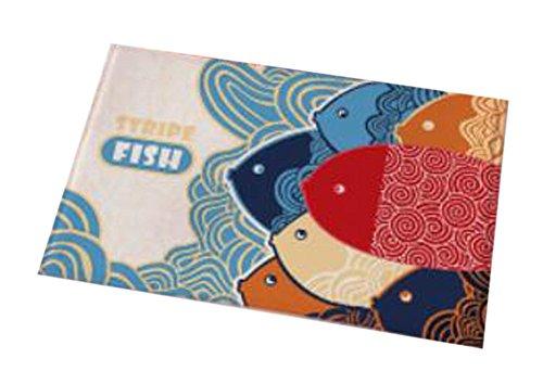 Benutzerdefinierte Türmatten (Fisch-Art-Haus-Anti-Rutsch Tür Matte Küche Schlafzimmer Haus Teppich 40x60CM)