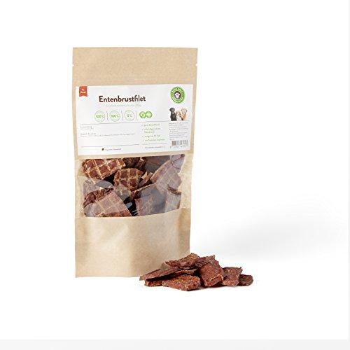 BARF für Hunde, Hundesnack, Trockenfleisch Entenbrustfilet Hunde 100g | PETS DELI | gesunder Snack für Hunde und Katzen, 100% pures Premium-Fleisch, luftgetrocknet