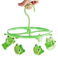 Bazaar 8pcs Cute Cartoon Frog Plastic Clothes Peg Clip Hanger