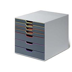 Durable Schubladenbox A4 (Varicolor) (mit Etiketten zur Beschriftung) mehrfarbig