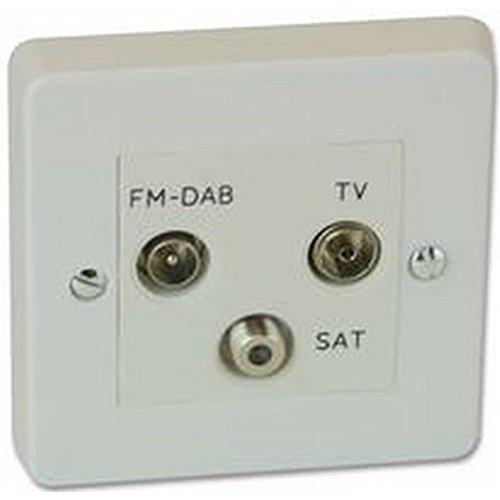 Preisvergleich Produktbild triplexer weiß Elektrische Schalter & Steckdosen-, triplexer weiß