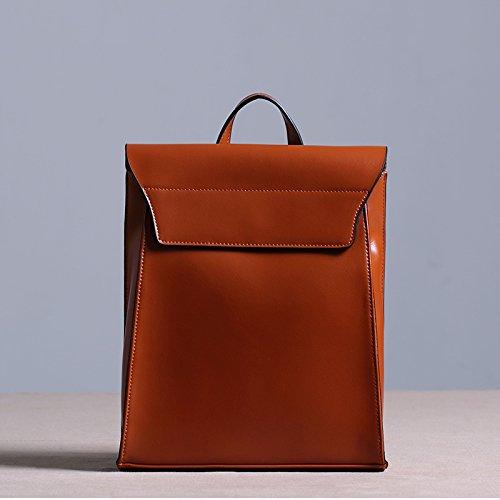 Sprnb Zaino in pelle donna borsa a tracolla in pelle zaino per il tempo libero,marrone Brown