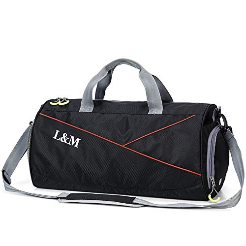 7f90a5fa1829 Gym Bag, Men Women Sports Gym Duffel Bag with Dry Wet Separated Pocket and  Shoes Compartment Travel Holdall Bag Yoga Training Weekend Overnight Bag ...