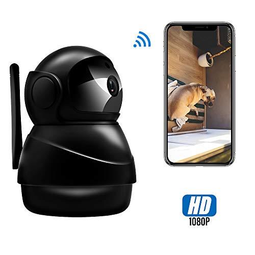 Veroyi IP Kamera Full HD 1080P WiFi Überwachungskamera mit Pan/Tilt/Zoom-Funktion, Zwei-Wege-Audio-Nachtsichtkamera Tilt Indoor Kamera