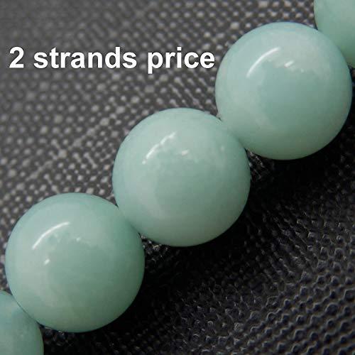 Preziosa gemma perle per fare gioielli, 100% naturale aaa elementare, venduto ogni sacca 2 fili dentro (amazzonite, 8mm)