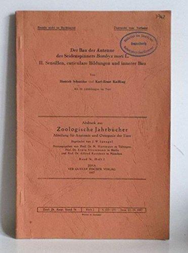 Der Bau der Antenne des Seidenspinners Bombyx mori L. II. Sensillen, cuticulare Bildungen und innerer Bau.
