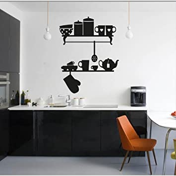 Mensole Cucina - Wandtattoos Vinyl Wall Stickers Decals: Amazon.de ...