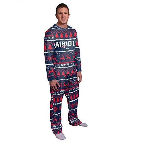FOCO NFL Winter Xmas Pyjama Schlafanzug - New England Patriots XX