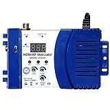 HDM68 Modulator Digitale HF HDMI Modulator AV HF Konverter VHF UHF PAL/NTSC-Standard Tragbarer Modulator.Blau.