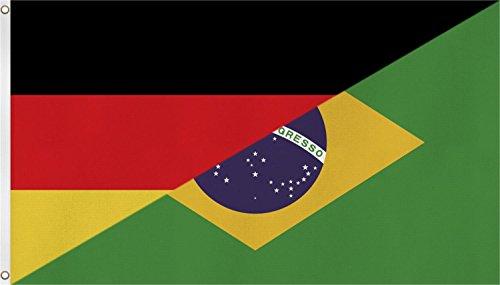 normani Fahne/Flagge mit zwei Metallösen zur Befestigung und zum Hissen - Größe 90 x 150 cm