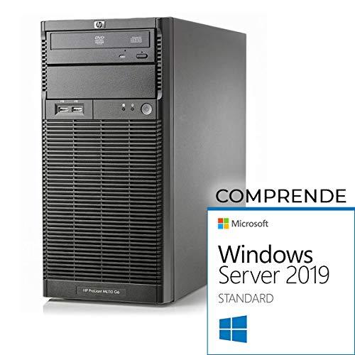 HP ML110 G6 Tower Xeon Quad Core X3430-16gb RAM- 2X 500 GB sata - Raid -  Windows Server 2019 Standard(Ricondizionato Certificato)