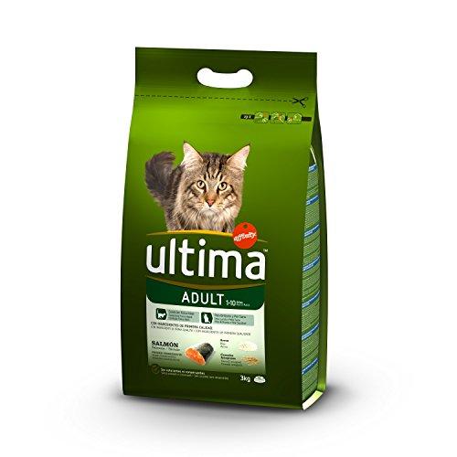 Ultima Pienso para Gatos Adulto con Salmón - Paquete de 5 x 3000 gr - Total: 15000 gr