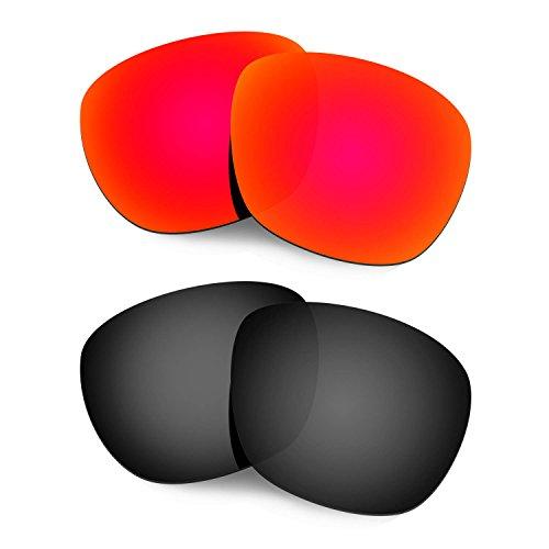 HKUCO Mens Replacement Lenses For Oakley Enduro Sunglasses Red/Black Polarized