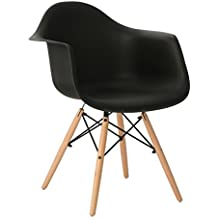 SILLA EAMES DSW (Pack 2) - SILLÓN DAW TOWER WOOD Naranja Melocotón Madera Oscura- (Elige Color) SKLUM