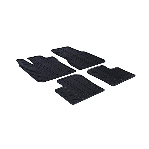 Rubber Car Mats-Set de alfombras de caucho Clips de montaje T, perfil, 4 unidades
