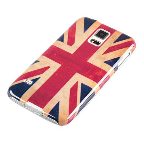 deinPhone AR-870063 Samsung Galaxy S5 Cover Guscio Protettiva Retro Flag GB