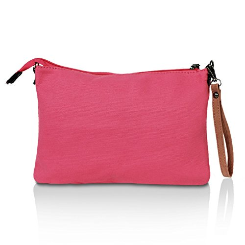 Glamexx24 Damen Clutches Tasche Handtaschen Schultertasche Umhängetasche mit Stern Muster Tragetasche TE201615 Pink