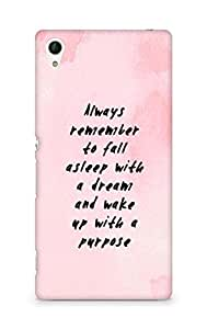 AMEZ always remember to fall asleep with a dream Back Cover For Sony Xperia Z4