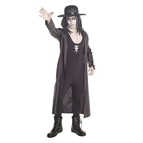 (Herren The Undertaker Ringer WWE Kostüme Hochwertiges Ringen Kampf Kleidung - Groß)