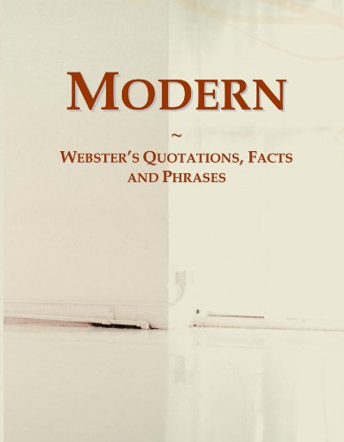 Modern: Webster's Quotations, Facts and Phrases