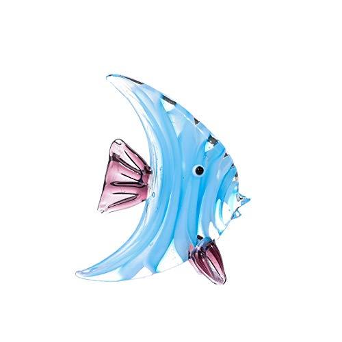 crystalsuncatcher Blaue Tropische Fische Glasskulptur Home Dekoration Büro Ornament